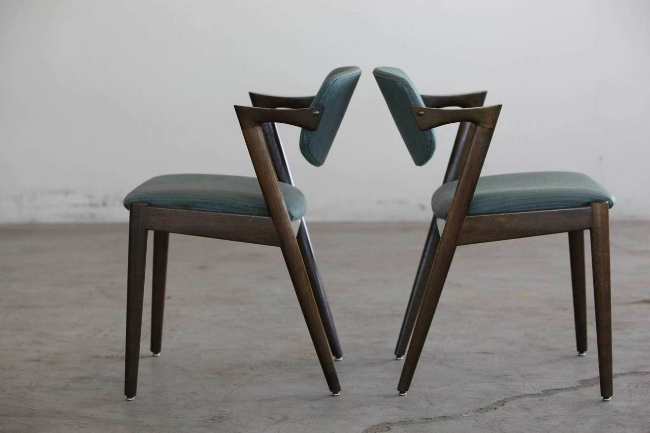 Set Of Four Kai Kristiansen 39 Z 39 Chairs Model 42 At 1stdibs