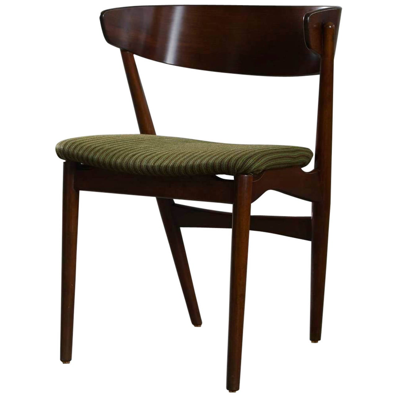 Super stylish side chair in teak by kai kristiansen at 1stdibs - Kai kristiansen chair ...