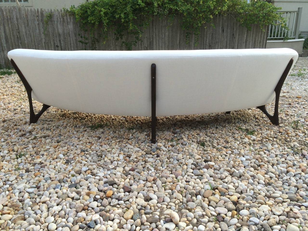 Mid Century Modern Floating Curved Sofa at 1stdibs