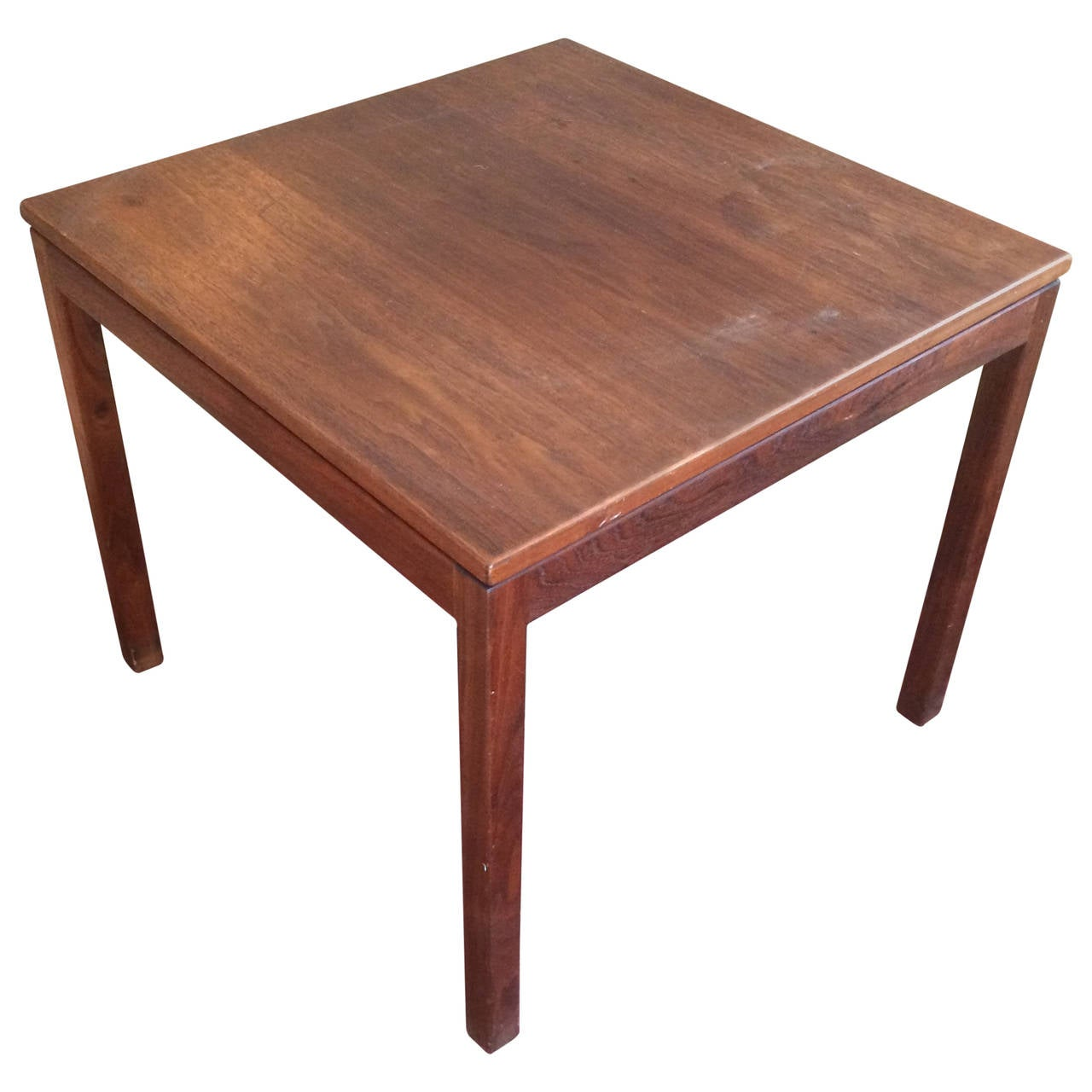 Danish Modern Walnut End Table By Jens Risom At 1stdibs