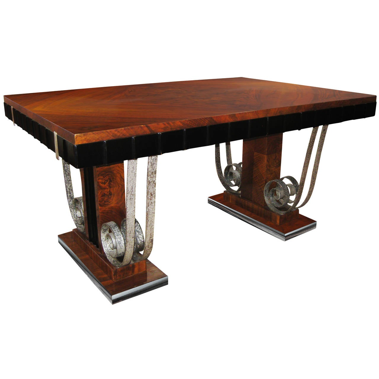 French art deco dining table at 1stdibs - Table de nuit art deco ...