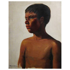 Early Portrait of an Indian Child by Luis Amendolla