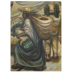 Early Painting by Froylán Ojeda, 1957