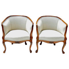 19th Century Slipper Chairs