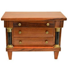Miniature Neoclassical Tabletop Commode