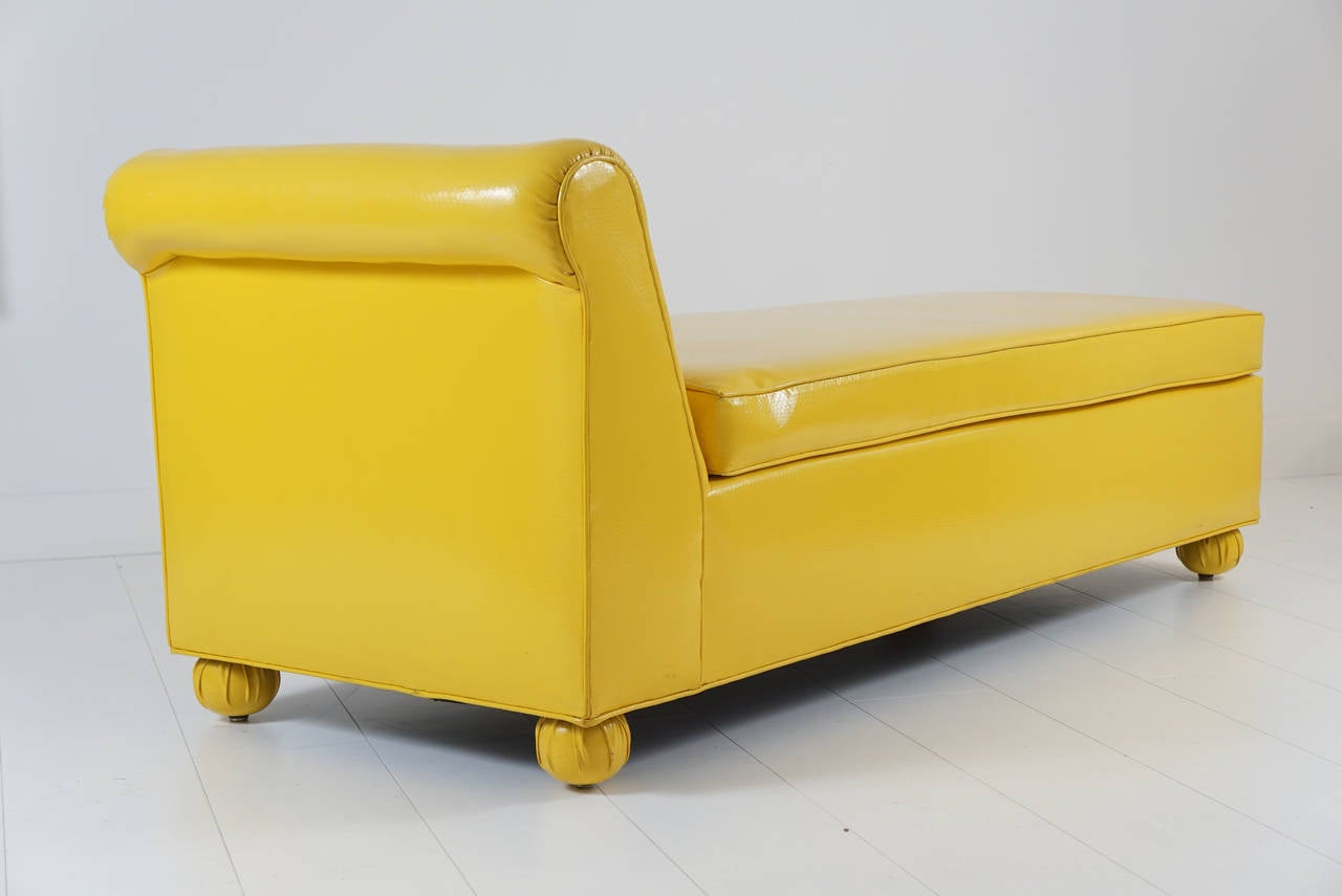 Vintage Yellow Chaise Lounge At 1stdibs