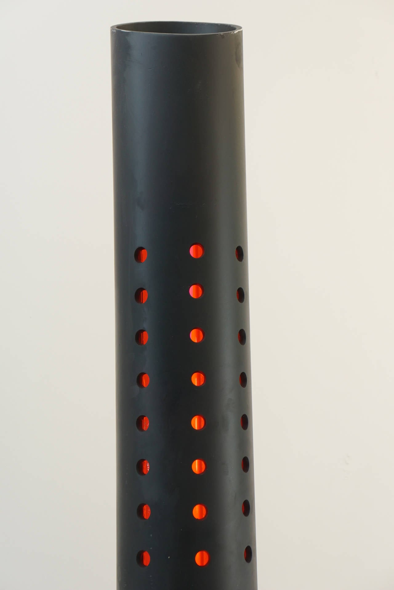 Vintage perforated tower floor lamp for sale at 1stdibs for Modern tower floor lamp