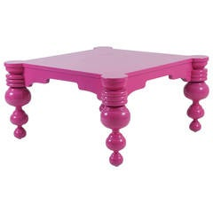 Magenta Auto Lacquer Overscale Coffee Table