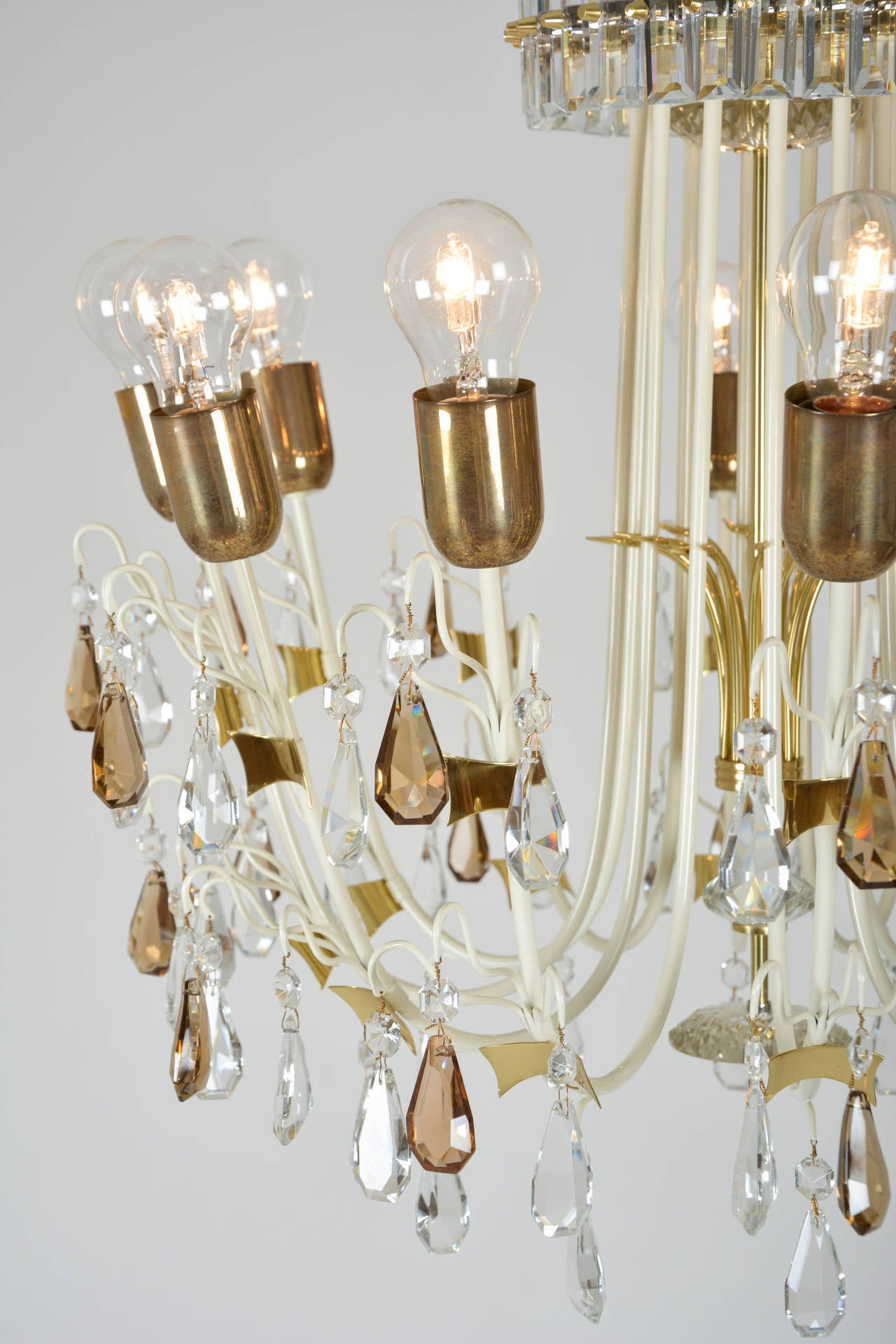 1950s Crystal Chandelier At 1stdibs