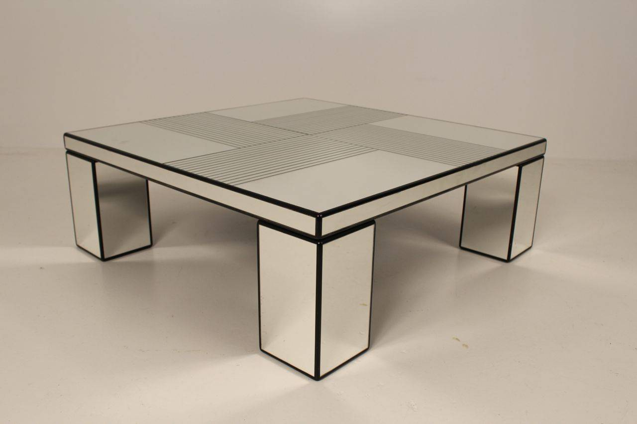 Mirror Coffee Table : Mirror Coffee Table, 1970s For Sale at 1stdibs