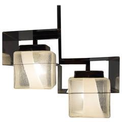 Mid century Modern Mazzega Ceiling Lamp