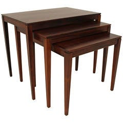 1960s Rosewood Nesting or Stacking Tables