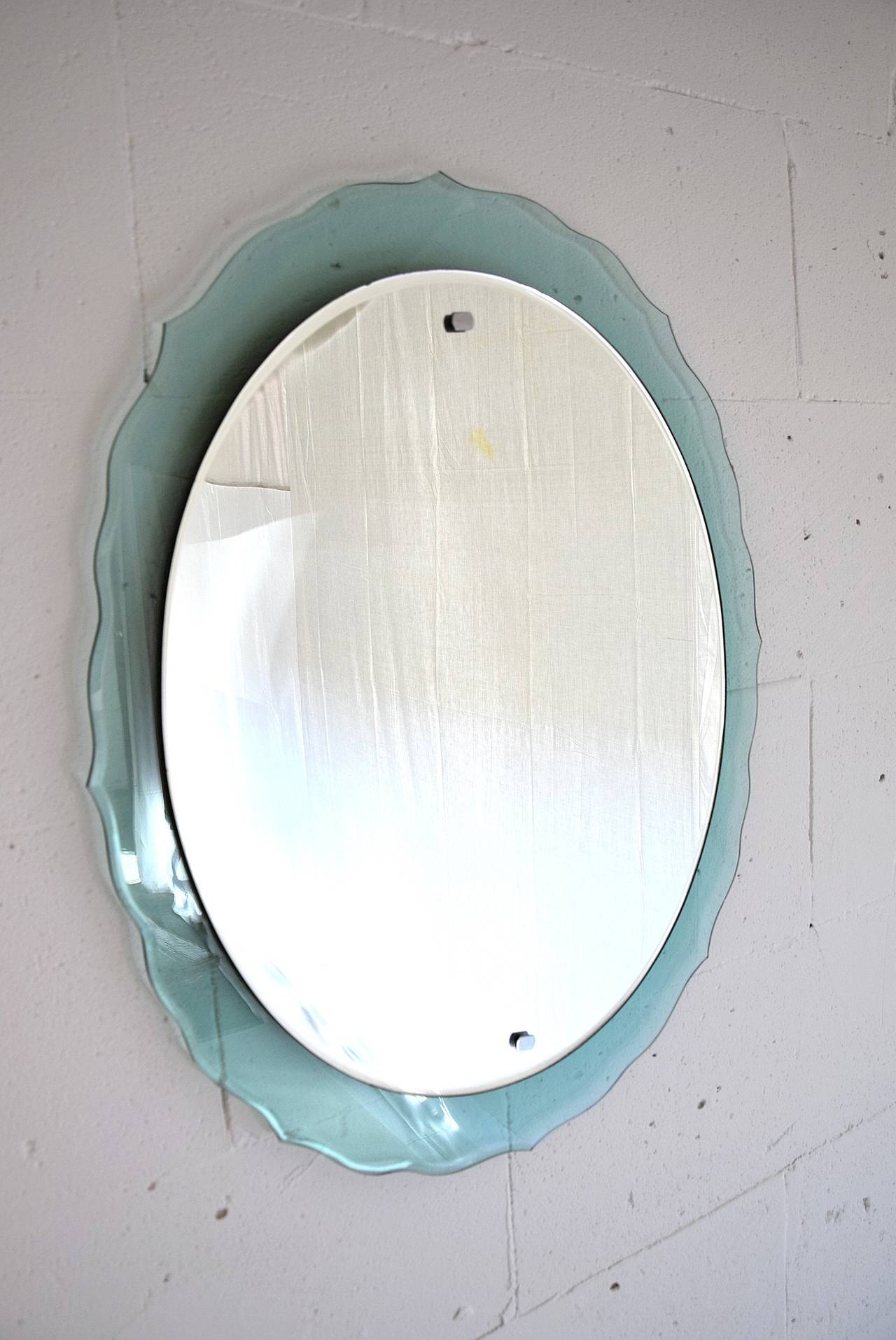 Mid-20th Century Mid Century Modern Italian Wall Mirror For Sale