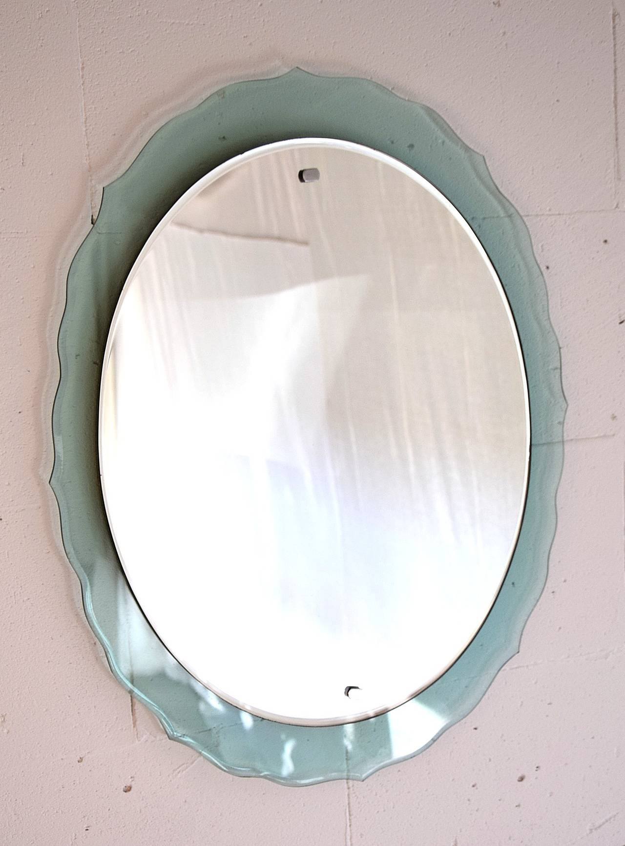 Mid Century Modern Italian Wall Mirror For Sale 1
