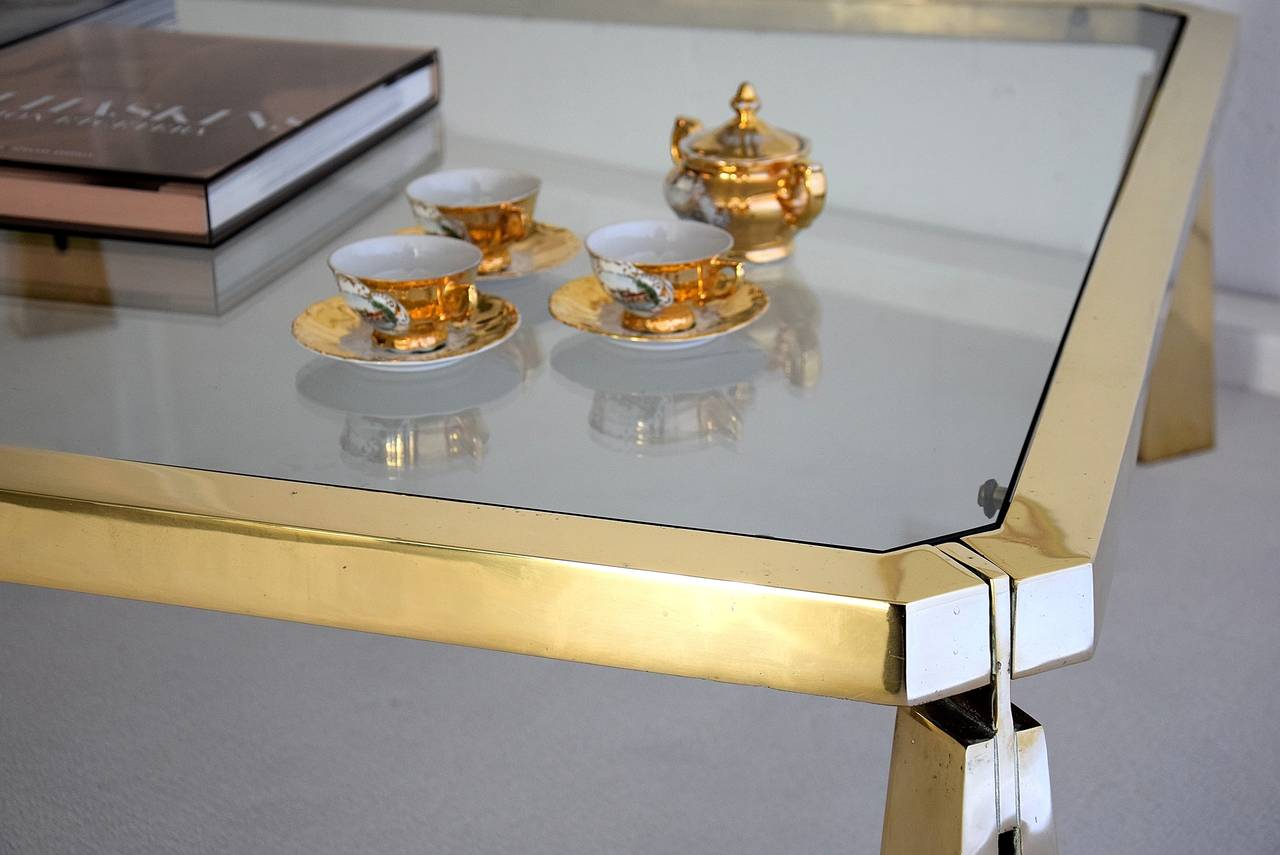 Hollywood Regency Coffee Table by Peter Ghyczy For Sale 2