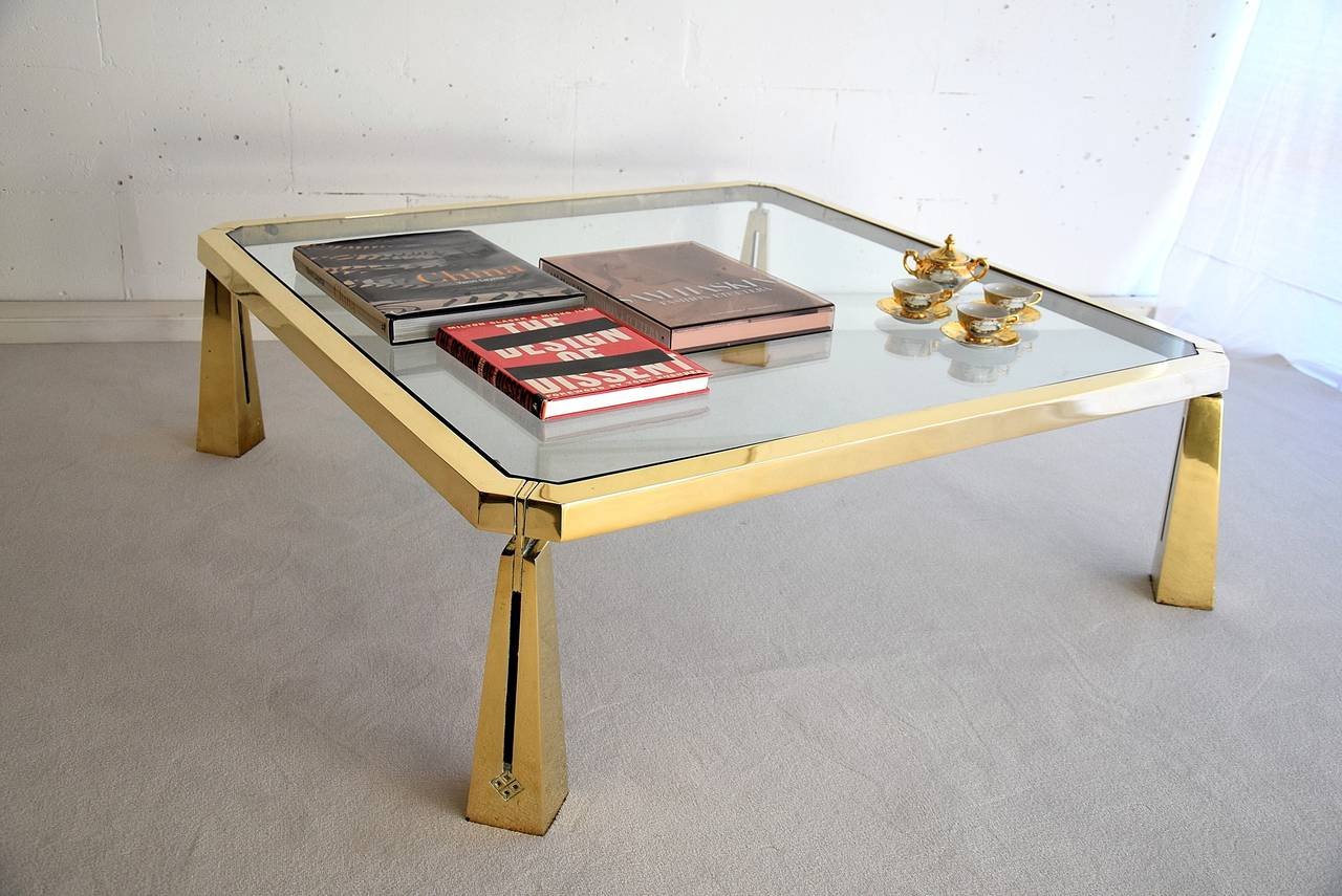 Late 20th Century Hollywood Regency Coffee Table by Peter Ghyczy For Sale