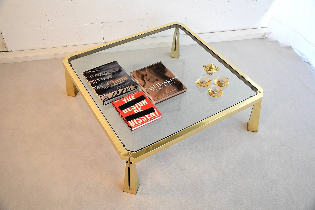 Hollywood Regency Coffee Table by Peter Ghyczy For Sale 3
