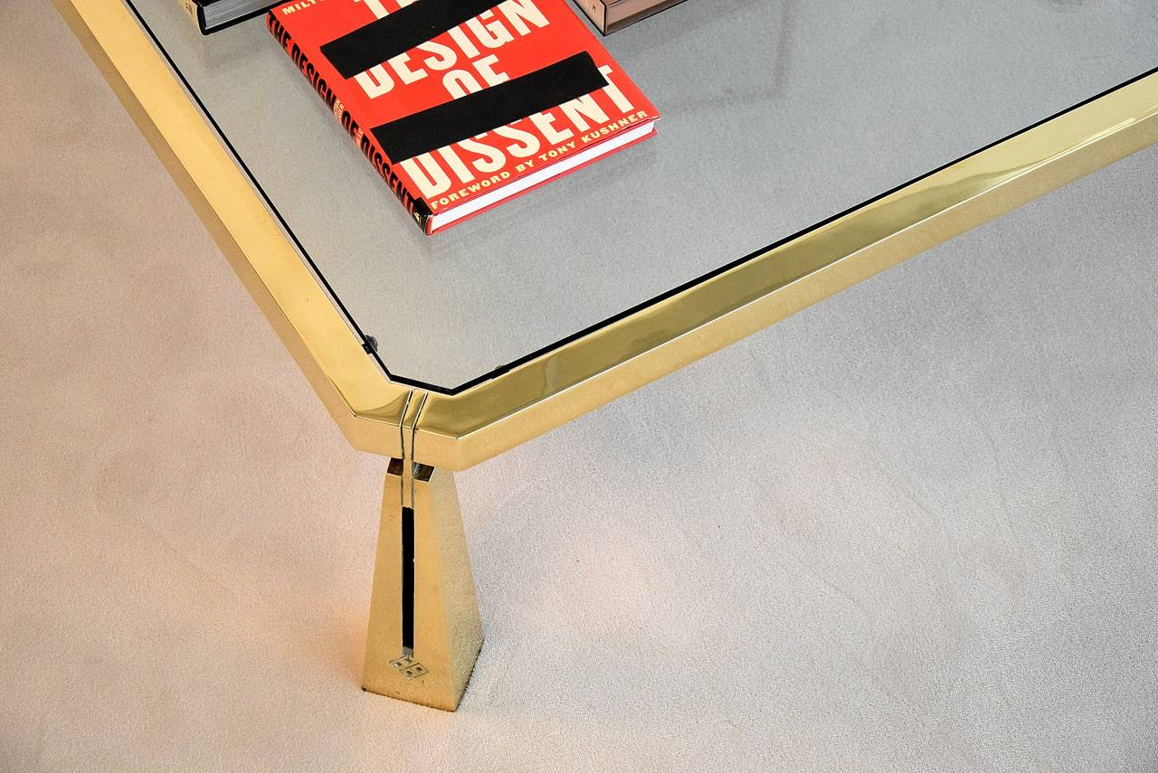 Hollywood Regency Coffee Table by Peter Ghyczy For Sale 4