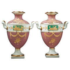 Pair of Nymphenburg Amphora Vases, circa 1920