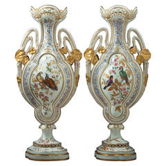 Rare Pair of Derby Crown Vases, circa 1880