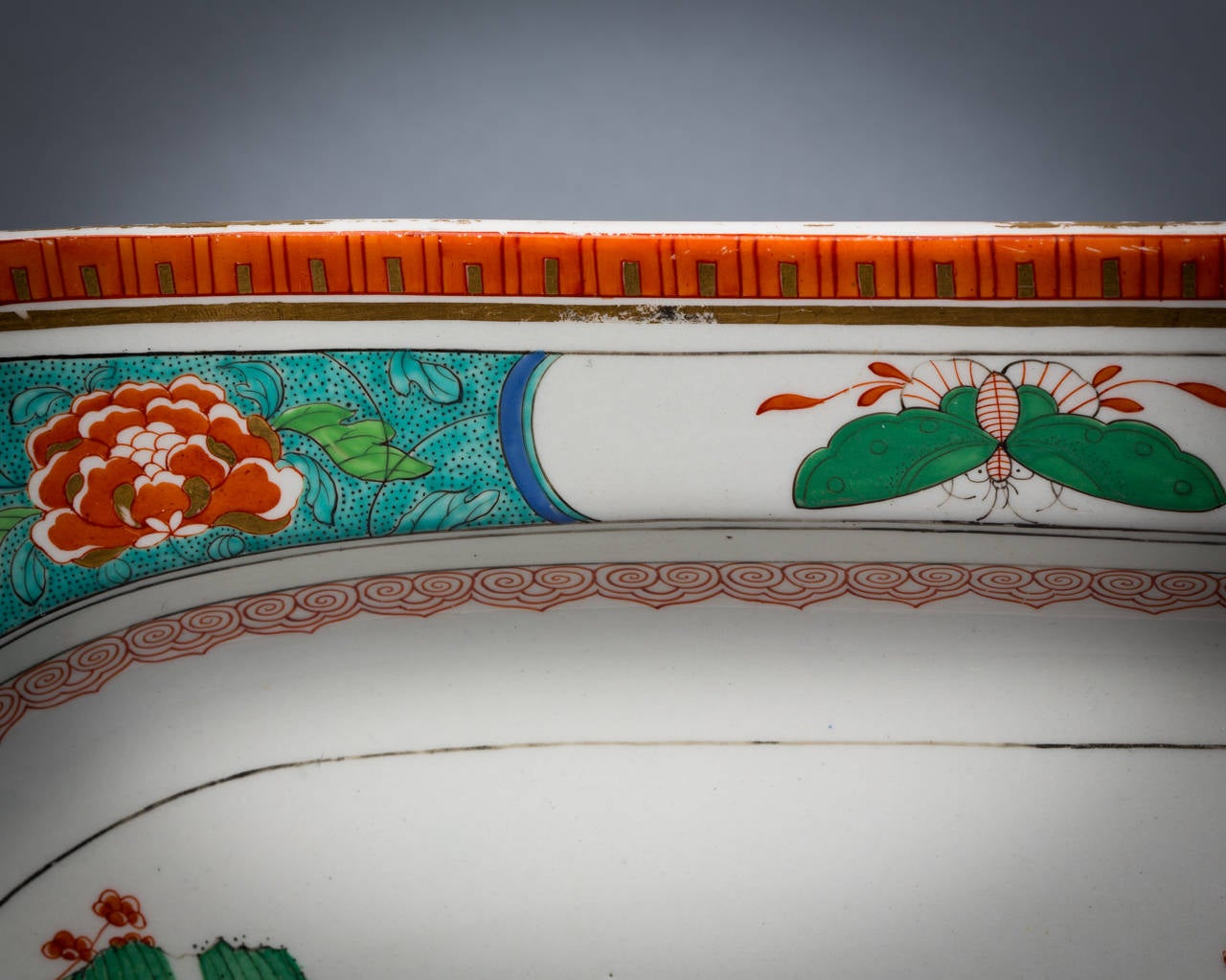 Large English Porcelain Serving Tray, Worcester, circa 1815 In Good Condition For Sale In New York, NY