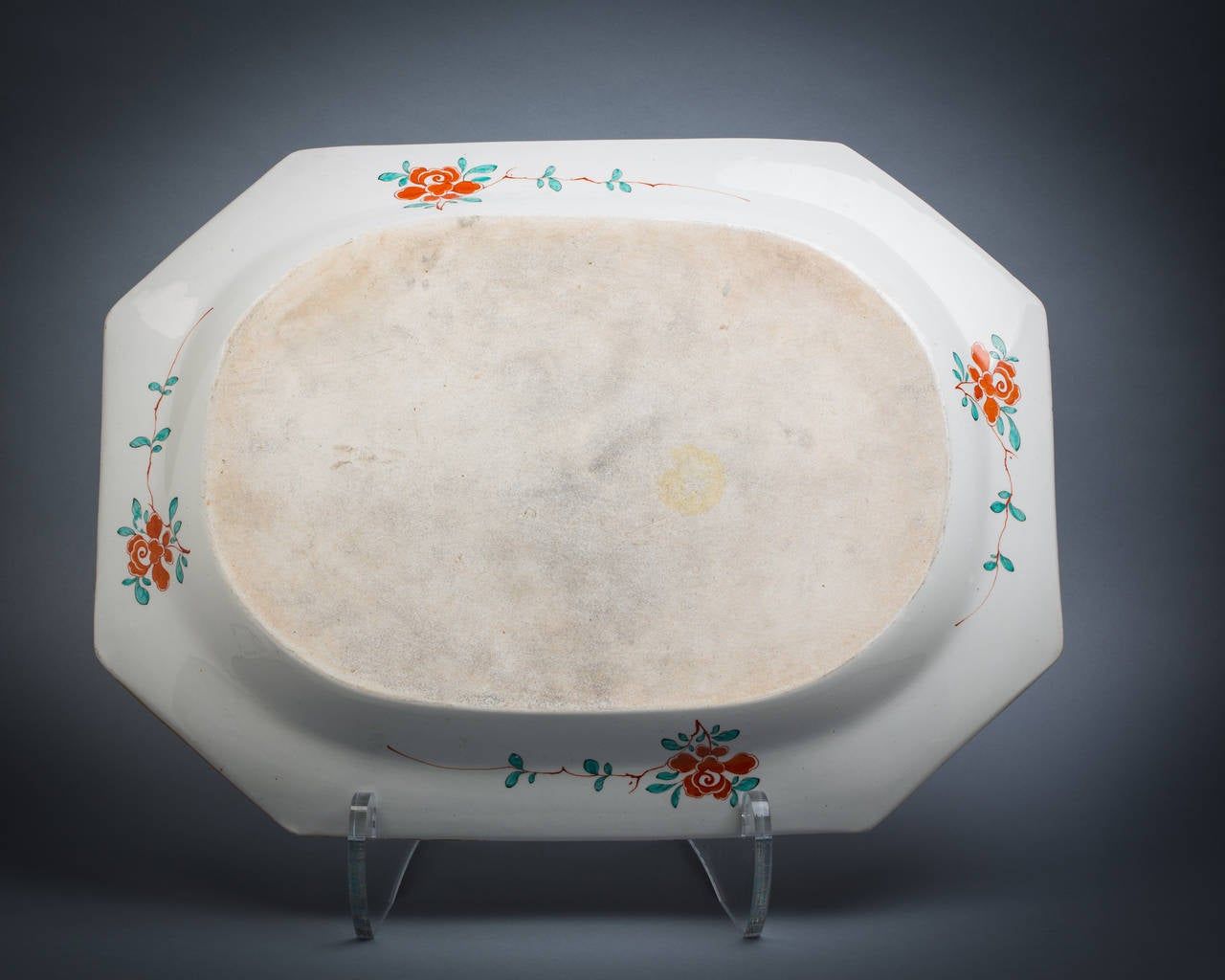 Early 19th Century Large English Porcelain Serving Tray, Worcester, circa 1815 For Sale