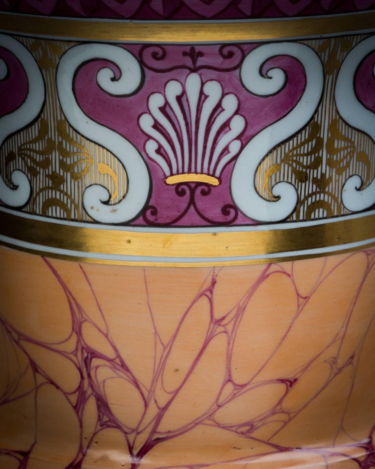 English porcelain vase, Chamberlain Worcester, circa 1820.