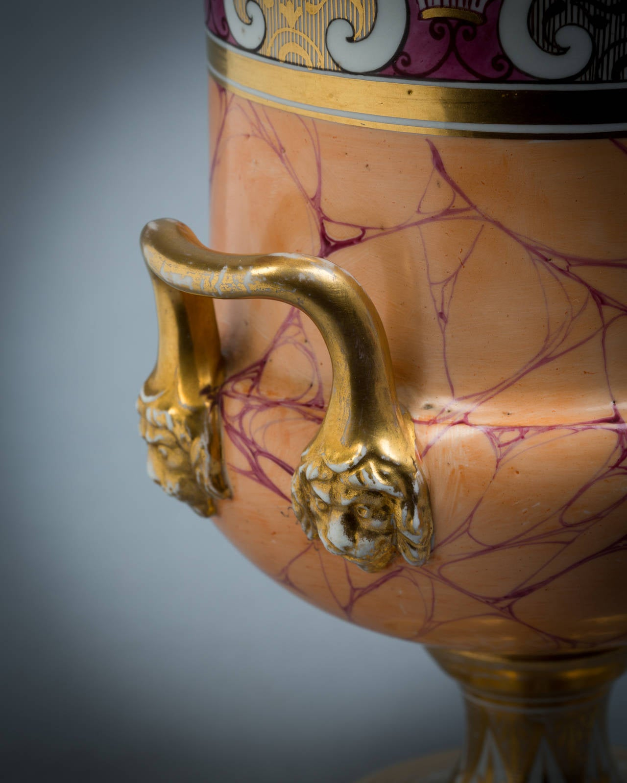 English Porcelain Vase, Chamberlain Worcester, circa 1820 In Good Condition For Sale In New York, NY