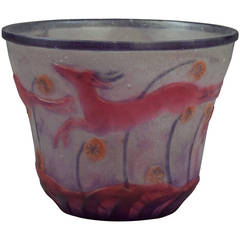 Pate-De-Verre Bowl by Argy Rousseau, circa 1900