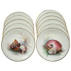 Set of 11 English Minton Porcelain Plates, circa 1880