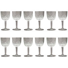 Set of 12 Crystal Water Goblets