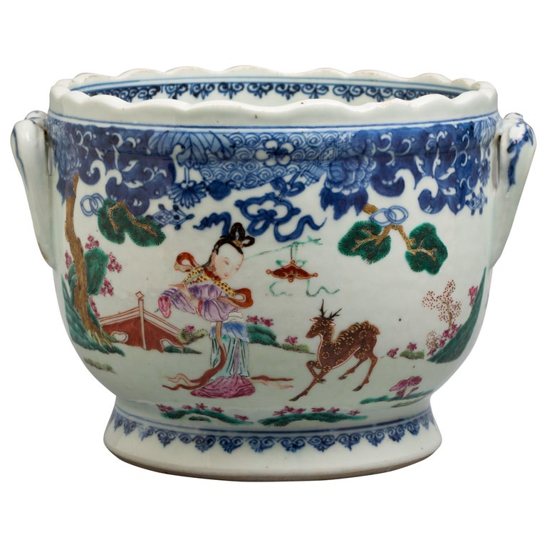 Chinese Export Cachepot, circa 1775 For Sale