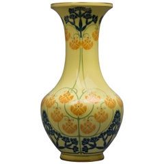 French Porcelain Vase, Sevres, Dated 1906