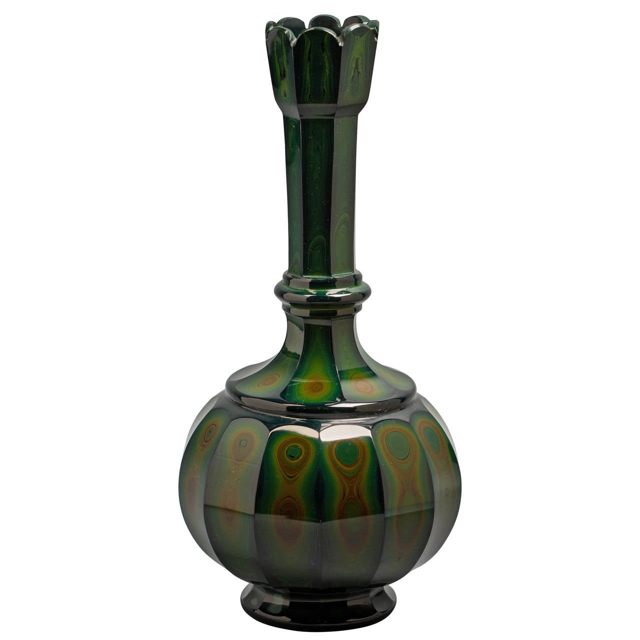 Bohemian Lithyalin Glass Vase, circa 1840 For Sale