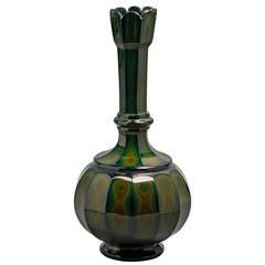 Bohemian Lithyalin Glass Vase, circa 1840