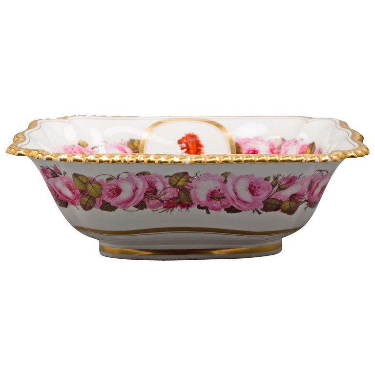 English Porcelain Bowl, Flight Barr and Barr, circa 1820 For Sale