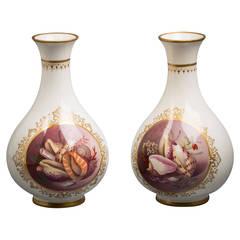 Pair of English Porcelain Vases, Worcester Kerr and Binns, circa 1860