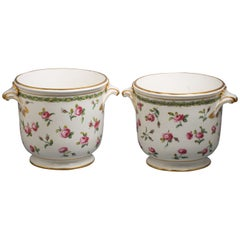 Pair of French Porcelain Wine Coolers, Sevres, circa 1776