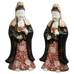 Pair of French Porcelain Chinoiserie Figures, circa 1840