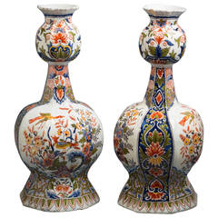 Pair of Delft Vases, circa 1800