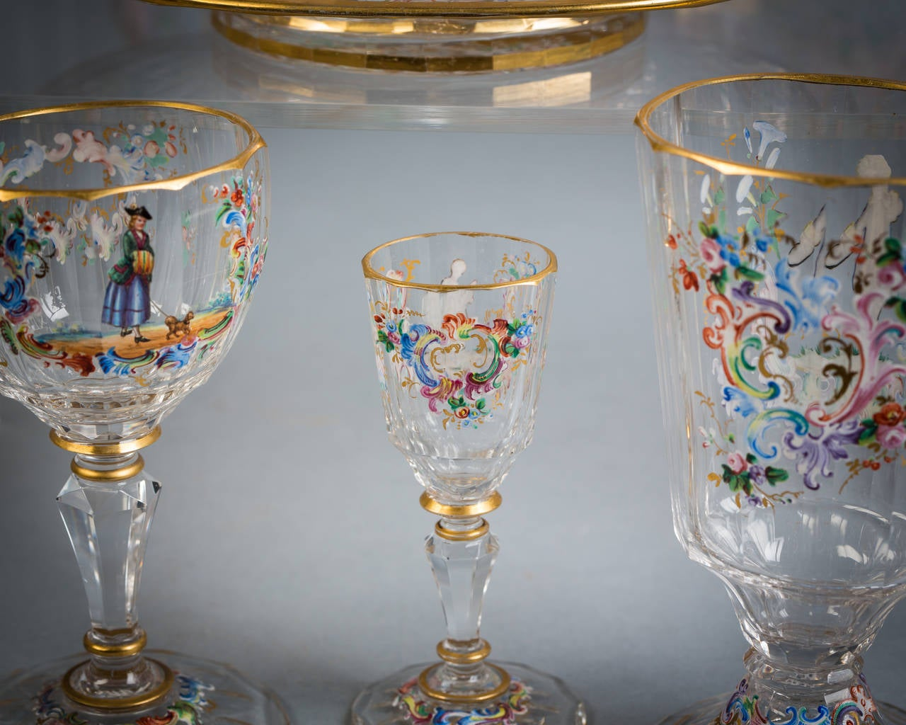 Austrian Enamel Table Glassware, Lobmeyr, circa 1890 For Sale 4