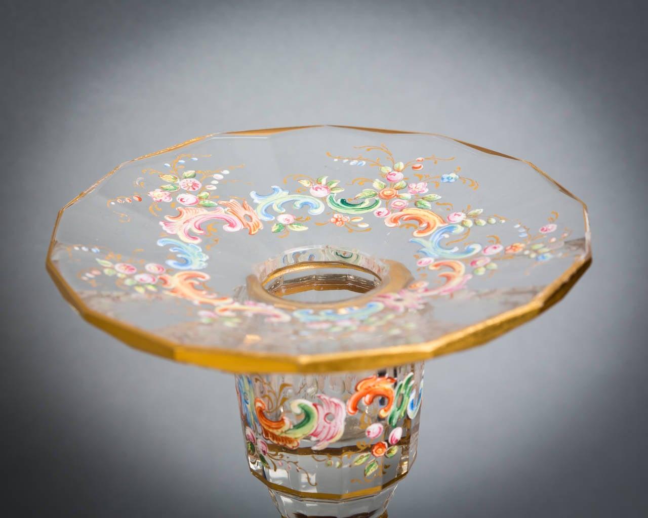 Austrian Enamel Table Glassware, Lobmeyr, circa 1890 For Sale 5