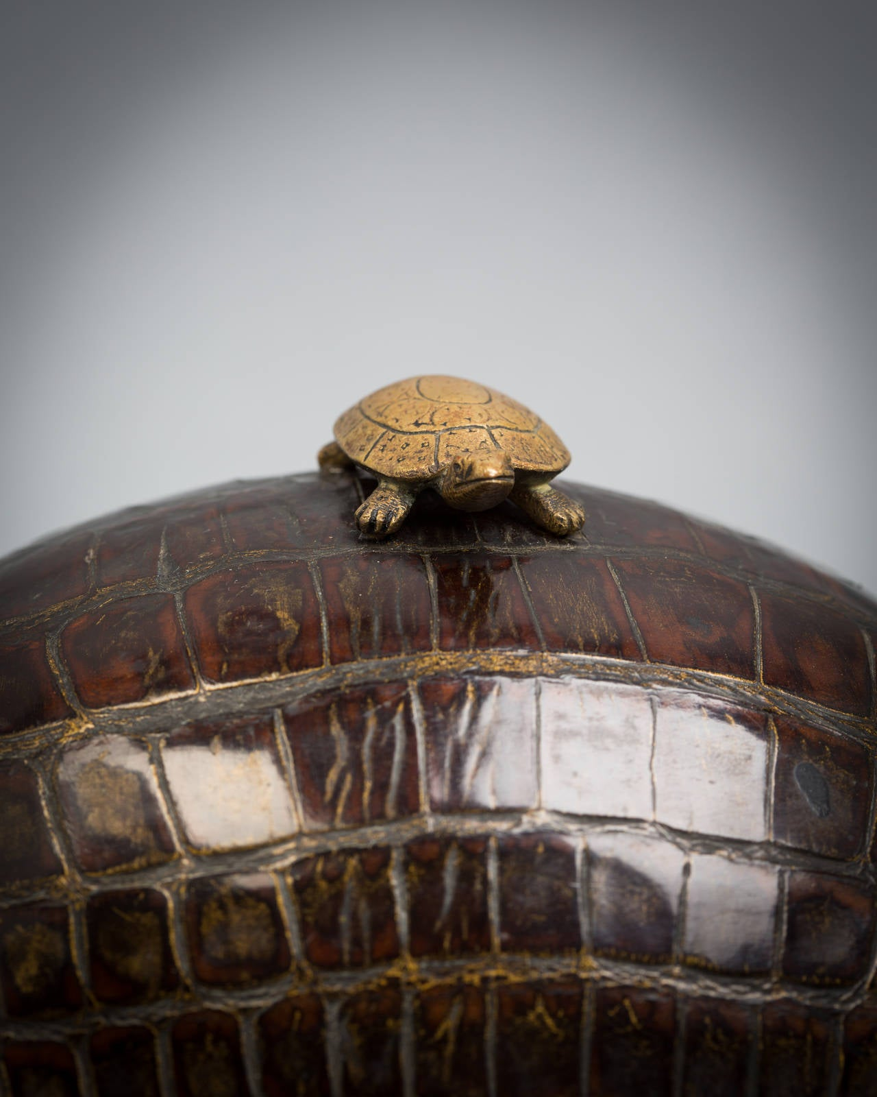 Turtle Inkstand, circa 1875 In Good Condition For Sale In New York, NY