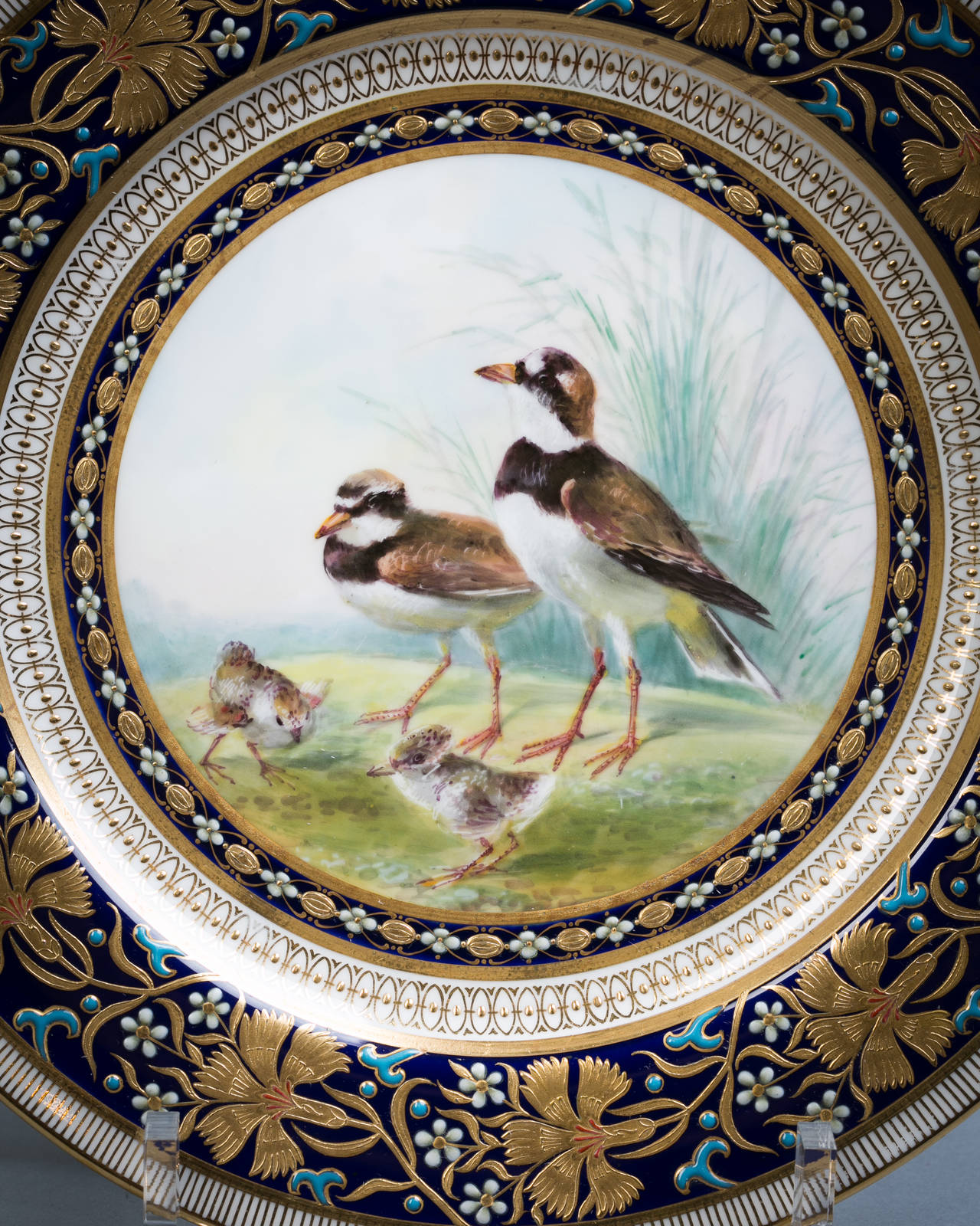 Set of 18 English Porcelain Plates, Minton, circa 1890 In Good Condition For Sale In New York, NY