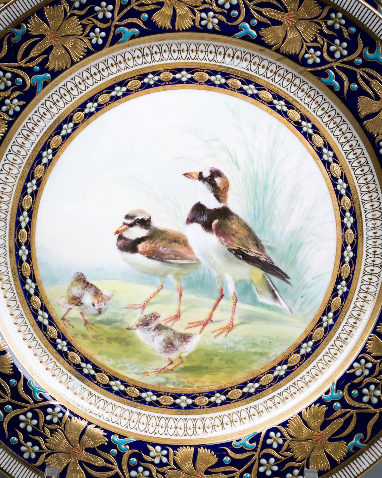 Set of 18 English Porcelain Plates, Minton, circa 1890 For Sale 4