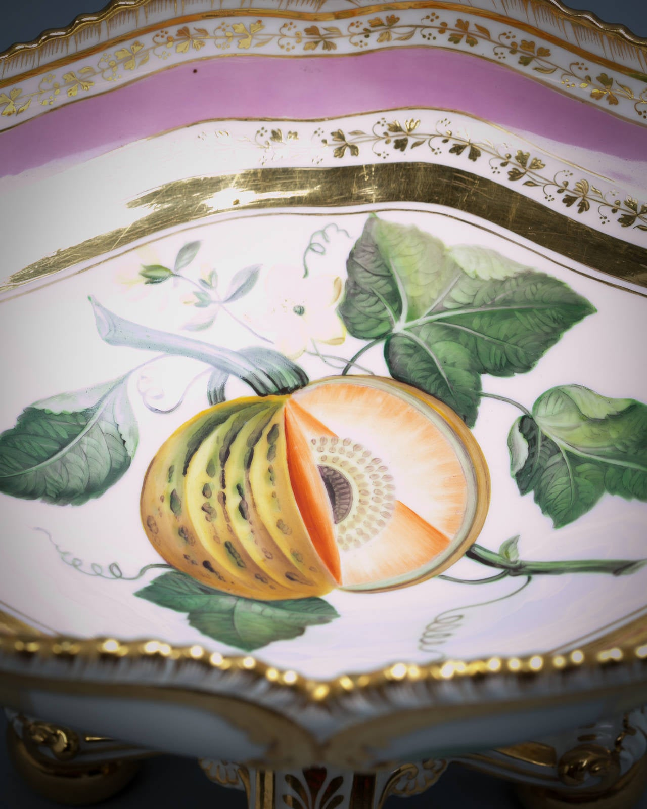 English Porcelain Fruit Service, Chamberlain Worcester, circa 1820 For Sale 5
