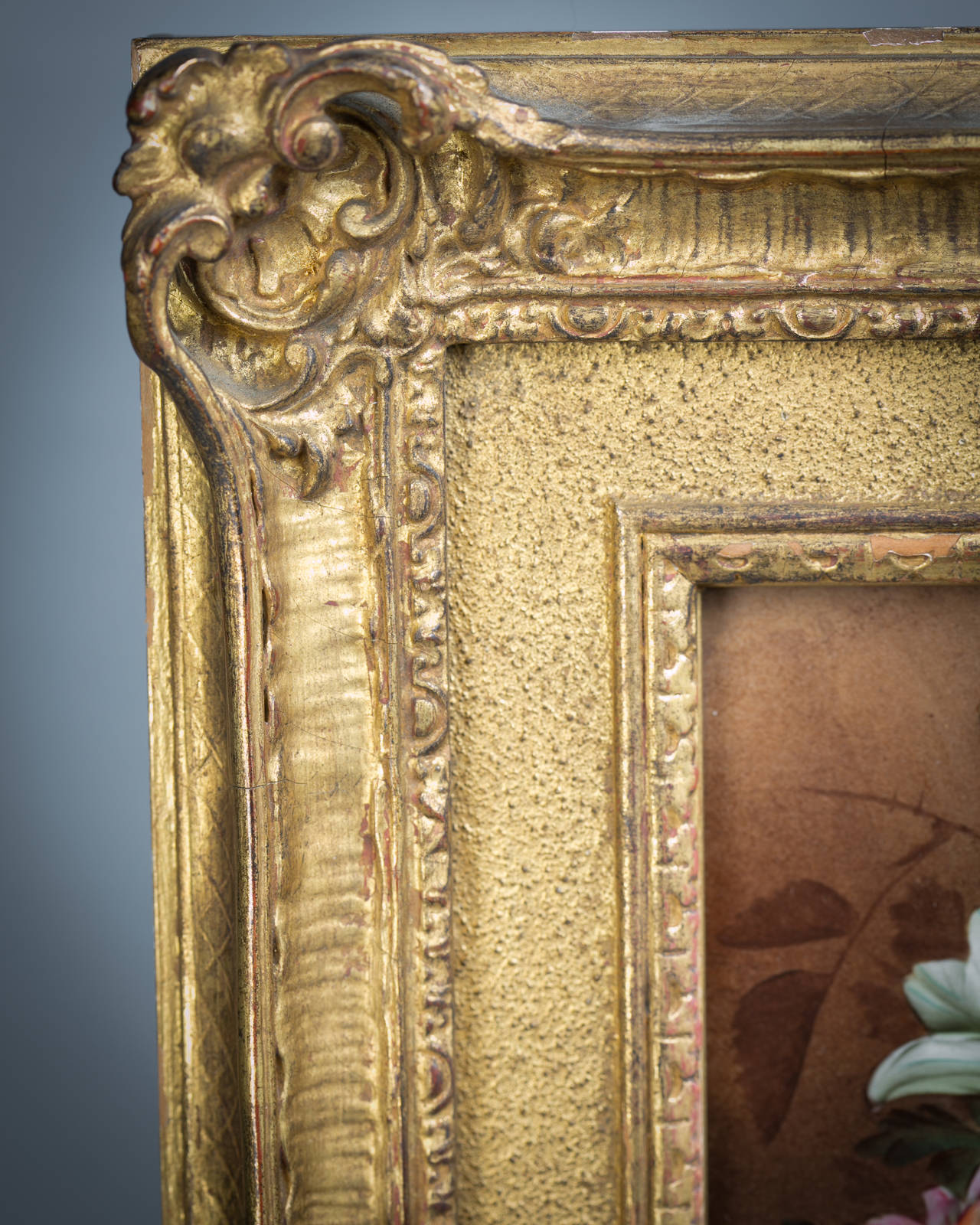 Mid-19th Century Framed English Porcelain Plaque, circa 1850 For Sale
