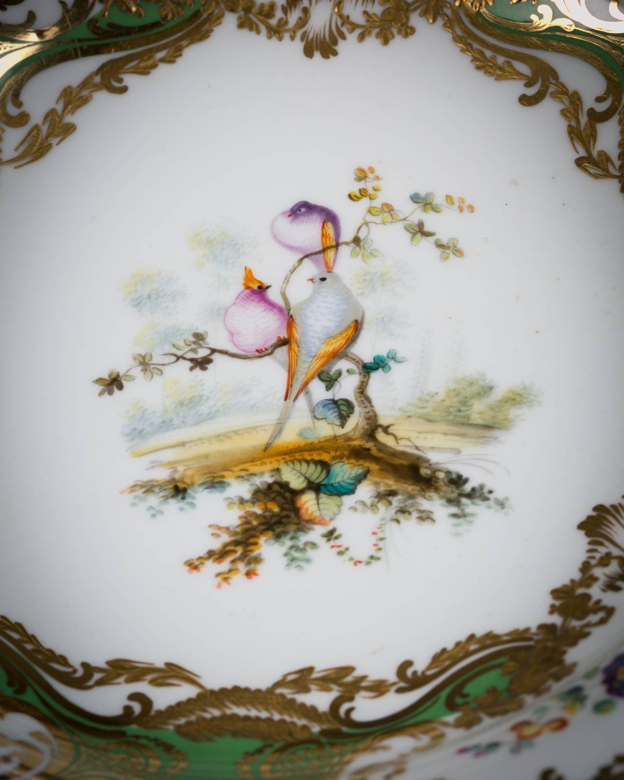 English Coalport Porcelain Dessert Service, circa 1850 For Sale 3
