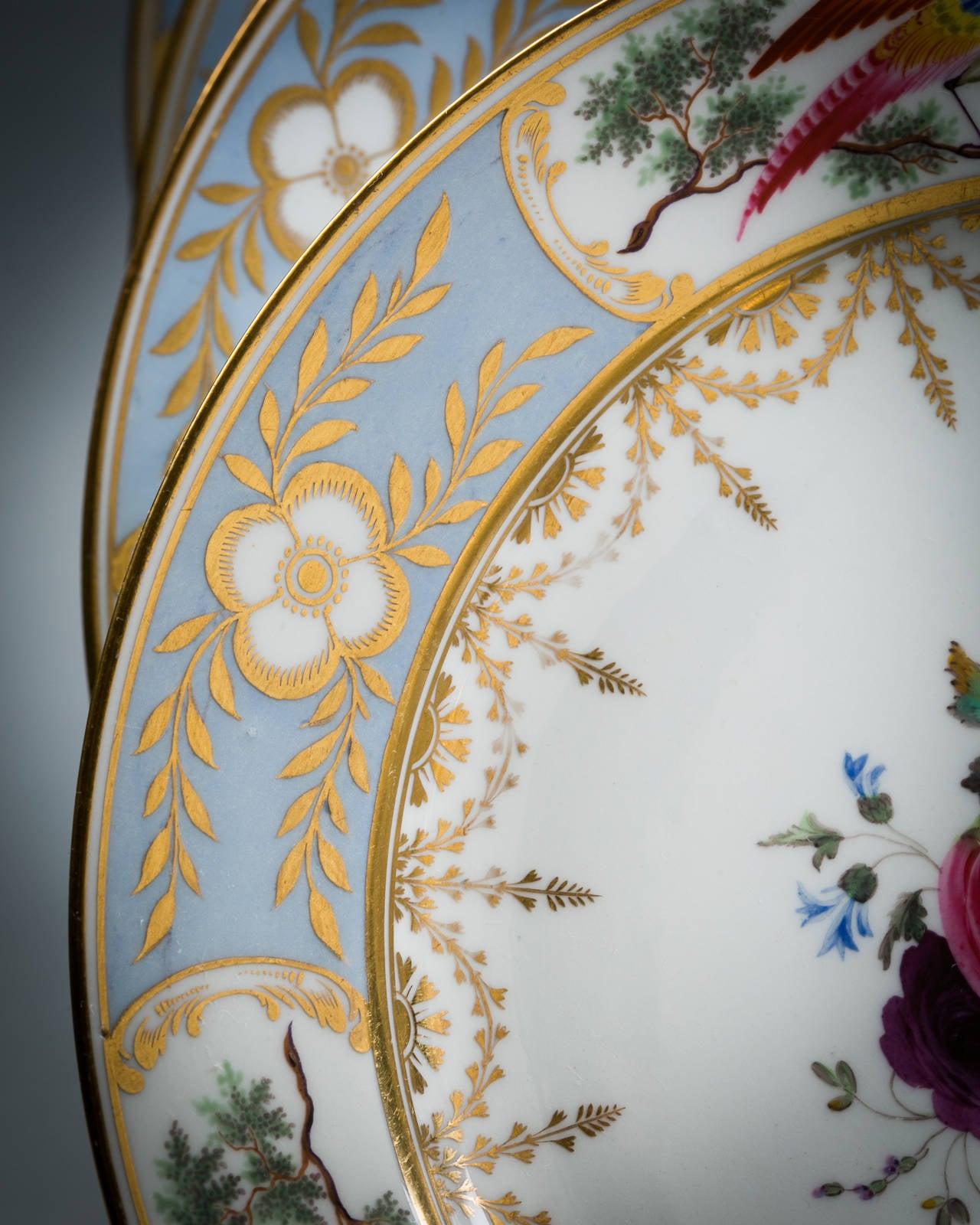 English Chamberlain Worcester Porcelain Part Dessert Service, circa 1815 For Sale 2