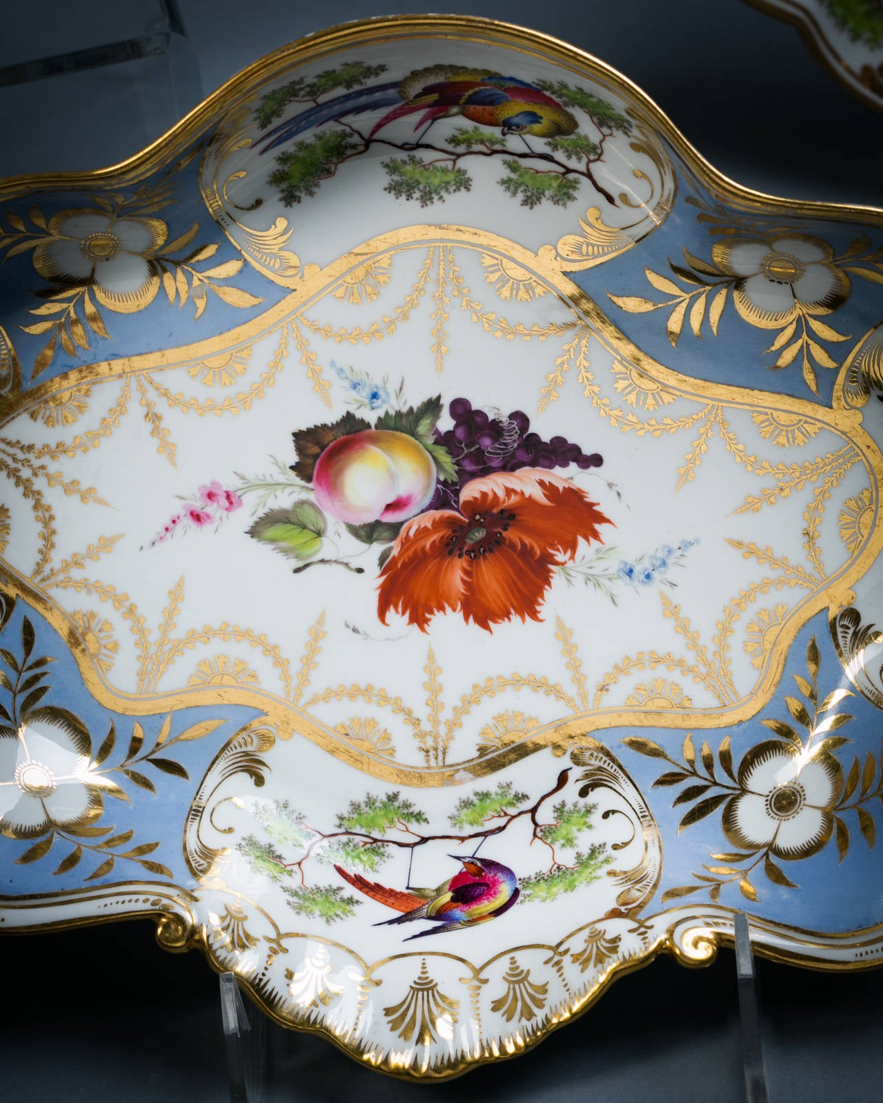 English Chamberlain Worcester Porcelain Part Dessert Service, circa 1815 For Sale 3